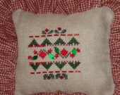 Christmas pillow with Crystal embellishments, Shelf sitter pillow, crystal embellished ornamental pillow, holiday home decoration