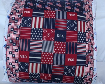 Patriotic pillow wrap, patriotic pillow cover, stars and stripes decoration, seasonal pillow covers, home decor, patriotic pillow