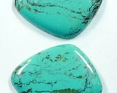 Two  Light Blueish Green vein Turquoise slab
