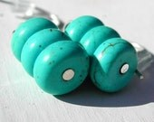 Turquoise Earring - Small Turquoise Earrings - Dangling Howlite