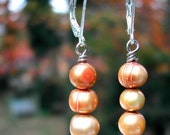 Pearl Earrings - Gold Potato Pearls Natural Freshwater