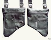 HOLSTER bAg // All Black // Unisex //  ADJUSTABLE // Vegan leather