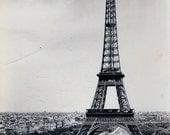 Vintage Postcard - Paris, The Eiffel Tower, 1957