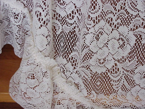 On Sale Beautiful Vintage Victorian Lace Swag Curtains
