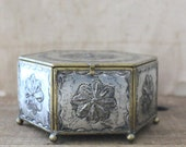 v i n t a g e  mexican punched tin display box