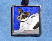 Rat Terrier Pendant from Original Pastel Painting with free chain Jack Russell Dog