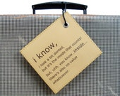 Cool gift guys men - Personalized Suitcase Luggage Tag that is always thinking of YOU first. LE MINI.
