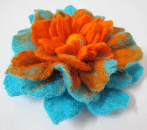 felt handmade flower brooch
