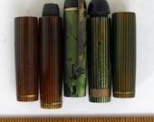 5 Eversharp Skyline Striped Fountan Pen Caps