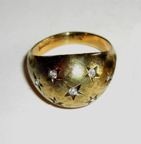 Vintage Karatclad 18KT HGE and Rhinestone Ring -reserved for Syrah