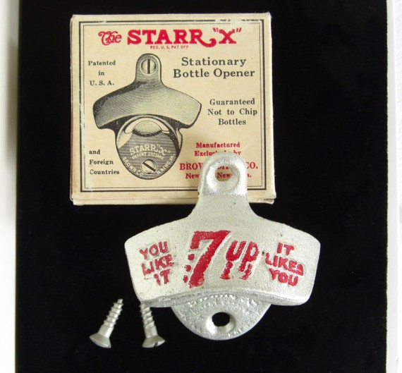 vintage starr x bottle 7 up bottle opener unused in original. Black Bedroom Furniture Sets. Home Design Ideas