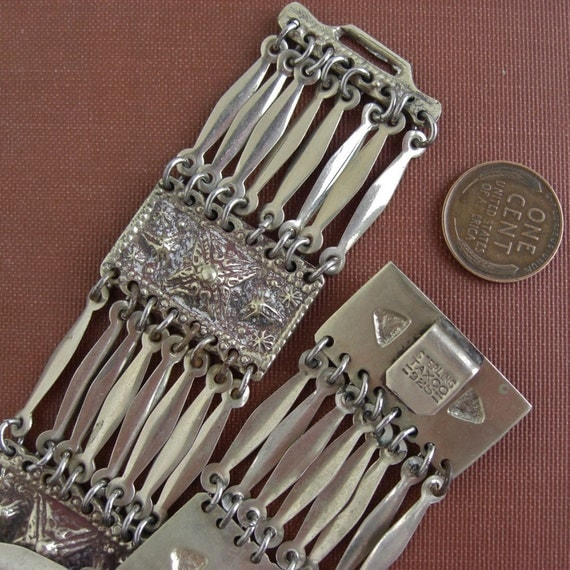 Vintage TAXCO Link Bracelet - marked Sterling 925