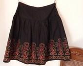 SALE!!!! Vintage Folkloristic Black Skirt