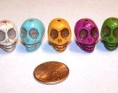 Multi Colored Skull Beads
