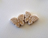 Cream Colored Magnesite Butterfly Beads Perfect for Earrings