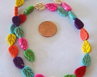 Adorable Multi Colored Tiny Leaf Bead Strand