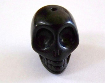 Skull Large Black Stone Bead