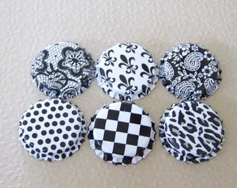 Bottle Cap Black and White Double Sided for Pendants, Necklaces, Jewelry