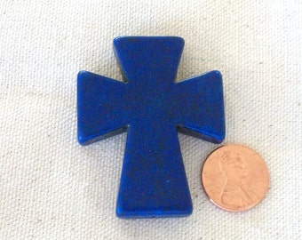 Cross Cobalt Blue Howlite Stone Large