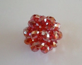 Large Red AB Crystal Bead Ball