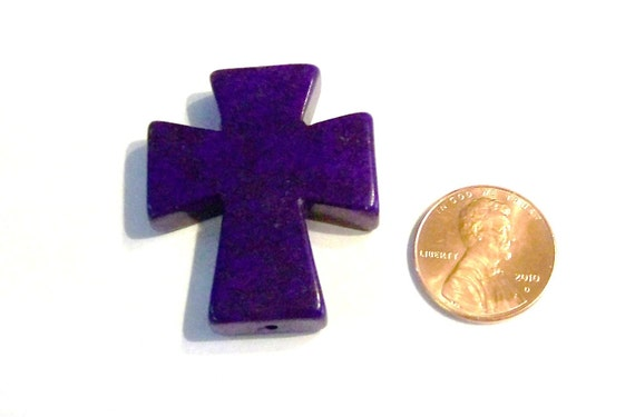 Medium Purple Stone Cross