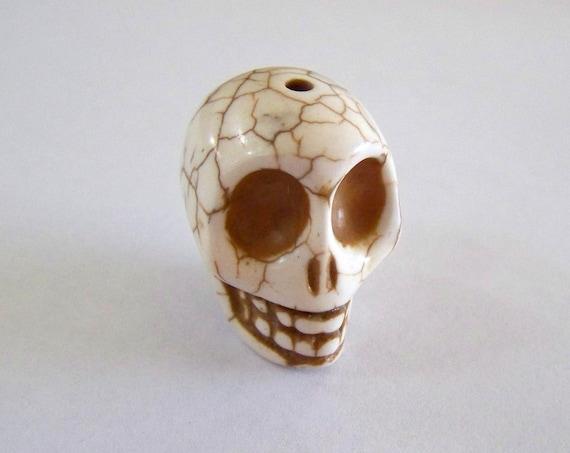 Big Daddy Large Cream Colored Stone Skull Bead
