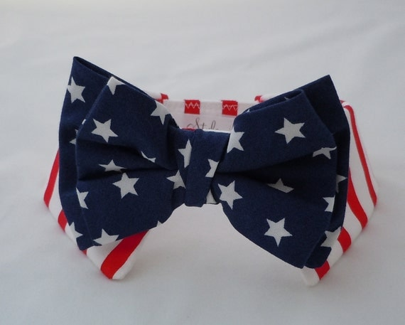 PATRIOTIC Bow Tie and Shirt Collar for Dog or Cat