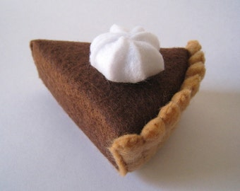 Felt Food Chocolate pie set eco friendly childrens pretend felt play food for kids toy kitchen