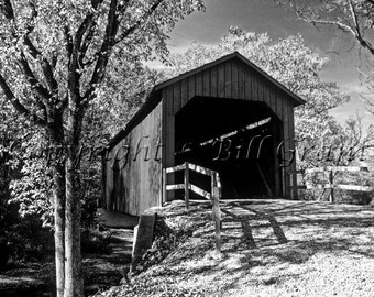 Covered Bridge in Missouri - Fine Art Photograph 5x7 8x10 11x14 16x20 24x30