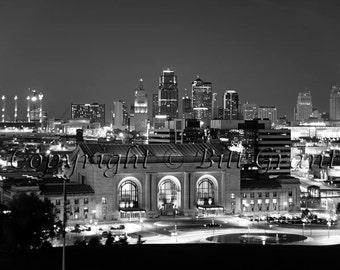 Kansas City Skyline and Union Station - Fine Art Photograph 5x7 8x10 11x14 16x20 24x30