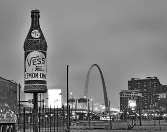Vess Bottle in St Louis - Fine Art Photograph 5x7 8x10 11x14 16x20 24x30