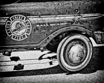 Where's The Fire - Fine Art Photograph of a Fire Truck Pedal Car 5x7 8x10 11x14 16x20 24x30