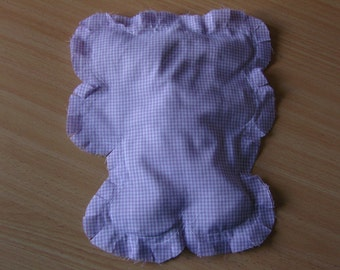 Purple Gingham Teddy Bear Hot/Cold Therapy/Sensory Rice Bag