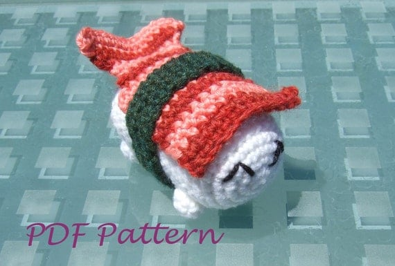 Sushi Critter Amigurumi Crochet Pattern- SPECIAL- 2-for-1 DEAL