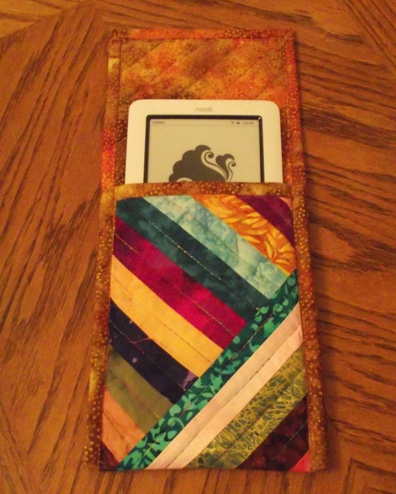 Quilted Batik Nook or Kindle Cover from Sweet Tooth Quilts