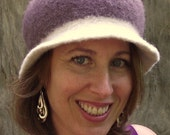 Knitted Felted Hat City Chic Taupe Wool