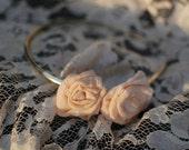 Peach Rose Headband
