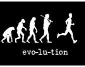 Evolution of Man - Running Marathon Jogging Poster 11x17 Print Poster Print