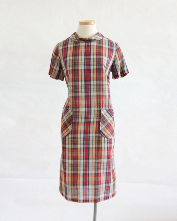 Pretty in Plaid Day Dress- size medium