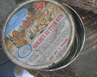 Vintage Butter Bits Tin