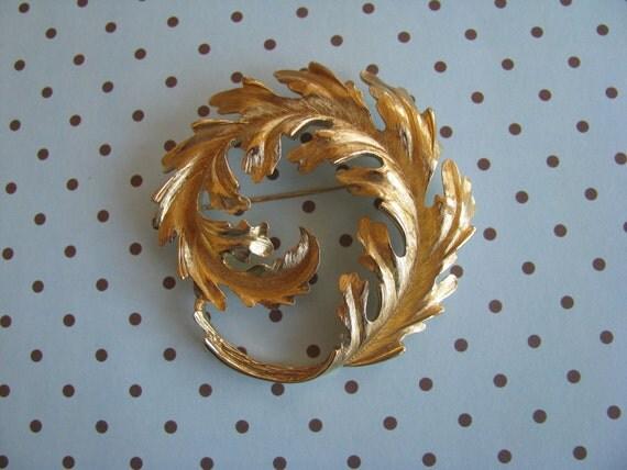 Large Vintage Curled Leaf Brooch SALE