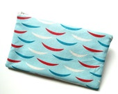 Red White Blue Skiff Boat Zippered Pouch