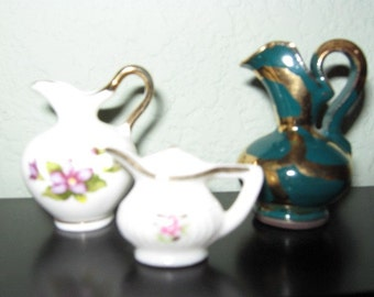 Vintage Set of Miniature Pitchers and Ewers