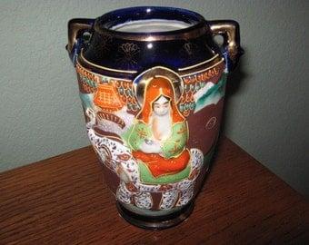 Vintage Japanese Moriage Satsuma Vase