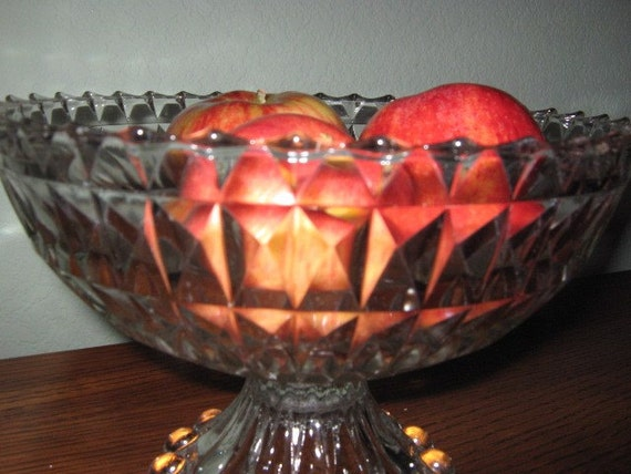 Vintage Pressed Glass Bowl Up Cycle