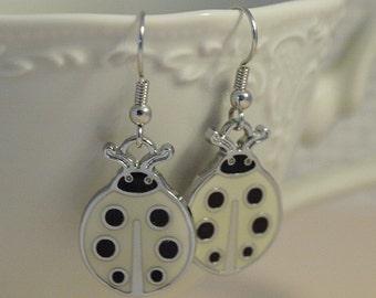 Shiny Beetle Earrings