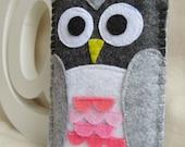 Iphone 4S felt sleeve - Owl