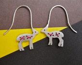 Silver Antelope Earrings