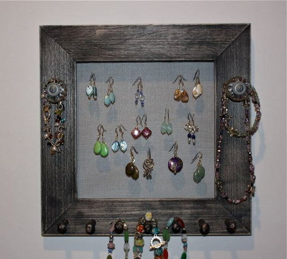 Black Earring Holder Jewelry Frame Organizer for Jewelry.