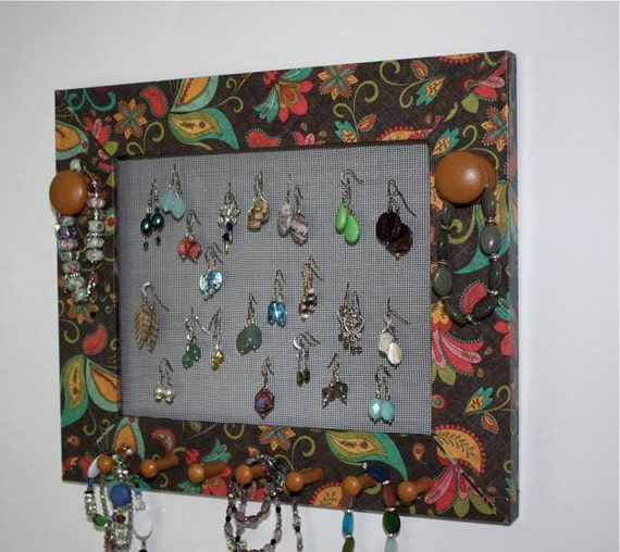 Paisley Paper Jewelry Frame Holder to Organizer Earrings.